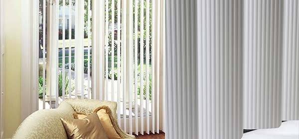 image of PVC verticals and fabric verticals